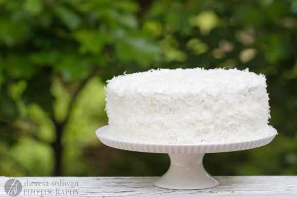 Coconut Layer Cake with Pineapple Curd