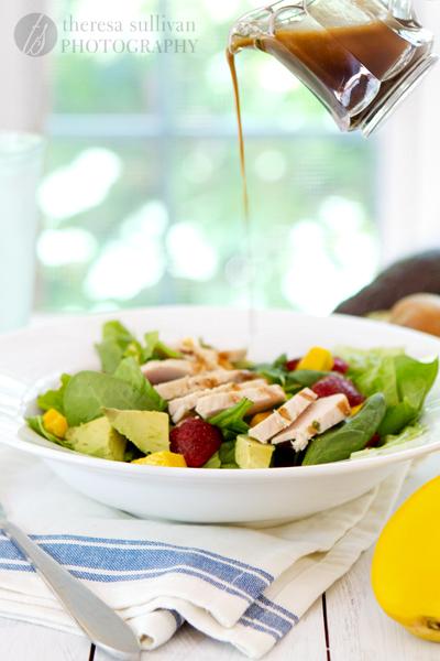 Strawberry, Mango and Avocado Salad with Honey Balsamic
