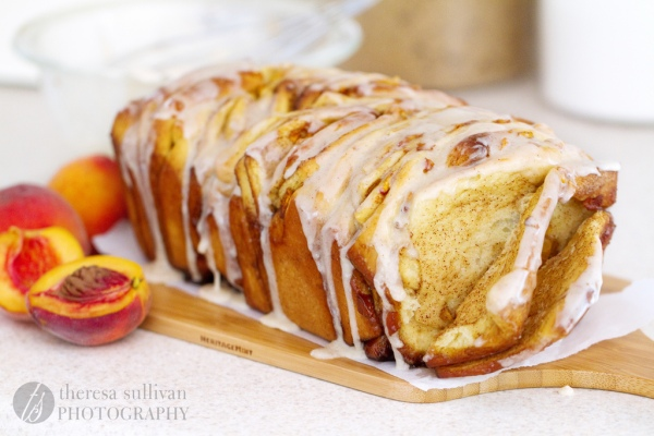 Peach, Cinnamon & Brown Butter Pull-Apart Bread | The Craving ...