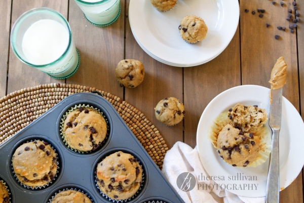 Peanut Butter Chocolate Chip Banana Muffins | The Craving Chronicles