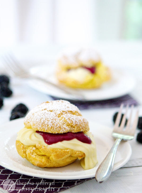 Lemon Blackberry Cream Puffs with Dairy-Free Pastry Cream | The ...