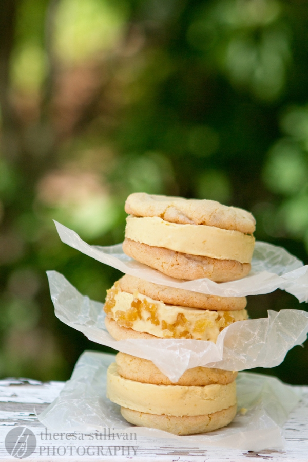 Spicy Sweet Mango & Ginger Ice Cream Sandwiches