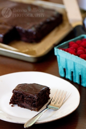 Chocolate Zucchini Cake with Ganache Frosting