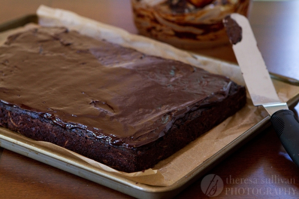 Chocolate Zucchini Cake with Ganache Frosting
