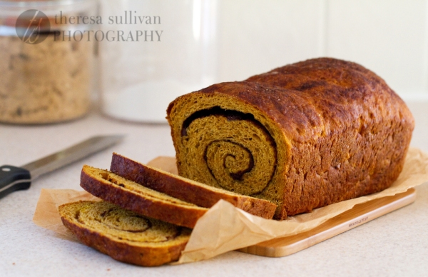 Pumpkin Cinnamon & Chocolate Swirl Bread